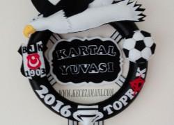 Keçe Beşiktaş Taraftar Kapı Süsü(Kartal Yuvası)