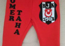 Keçe İşlemeli Beşiktaş Eşofman Altı