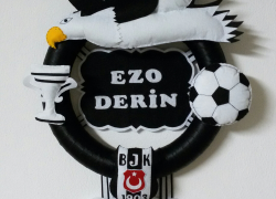 Keçe Kabartmalı Beşiktaş Kapı Süsü(Ezo Derin)