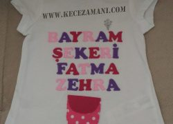 Keçe İşlemeli Rengarenk Bayram Tişörtü (Fatma Zehra)