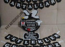 Keçe Beşiktaş Kapı Süsü (Egehan Enver)