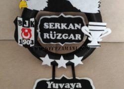 Keçe Beşiktaş 3 Yıldız Kapı Süsü (Serkan Rüzgar)