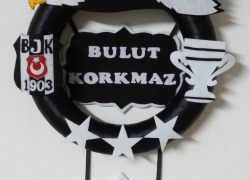 Keçe Beşiktaş Kapı Süsü(Bulut Korkmaz)