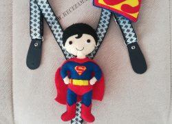 Keçe Süpermen Pantolon Askısı