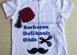 Keçe İşlemeli Sünnet Tişörtü (Barbaros)