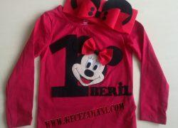 Keçe Mickey Mouse Doğum Günü Badisi ve Tacı