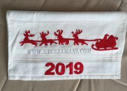 Keçe İşlemli 2019 Yılbaşı Havlusu