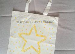Alışveriş Bez Çanta Yıldız