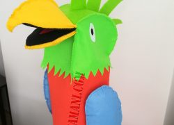 Keçe Papağan Kukla(Ağız oynayabilen)