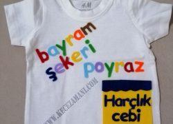 Keçe İşlemeli Bayram Tişörtü(Poyraz)