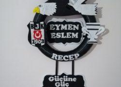 Keçe Beşiktaş Kapı Süsü(Eymen-Eslem-Recep)