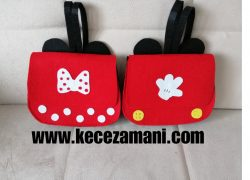 Keçe Mickey – minnie mouse çanta