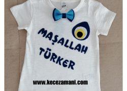 Keçe İşlemeli Sünnet Tişörtü Türker
