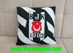 Keçe Beşiktaş Kişiye Özel Yastık