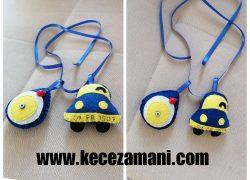 Keçe Fenerbahçe Araba Dikiz Ayna Süsü