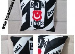 Keçe Beşiktaş Taraftar Yastık İsimli