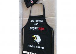 Keçe İşlemeli Beşiktaş Mutfak Önlüğü(Ege Kayra)