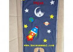Keçe İşlemeli Çocuk Seccadesi Uzay (Yaşar )