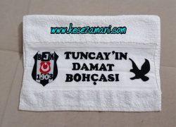 Beşiktaş Amblemli Damat Havlusu(Tuncay)