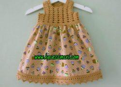 Sarı Tiril Tiril Elbise
