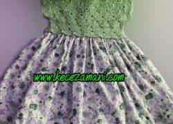 Yeşil Yazlık Çocuk Elbise