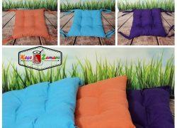 Renkli Bağlamalı Sandalye Minderi