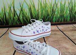 Nakış İşlemeli Küçük Çiçek Ayakkabu