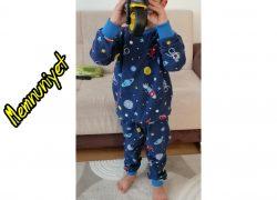 Pazen Pijama Uzay Desenli Memnuniyet